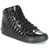 Shoes Girl Hi top trainers Geox J KALISPERA G.F Black