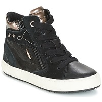 Shoes Girl Hi top trainers Geox J KALISPERA G.D Black