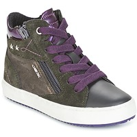 Shoes Girl Hi top trainers Geox J KALISPERA G.D Grey