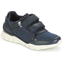 Shoes Girl Low top trainers Geox J SUKIE G. B Marine