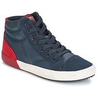 Shoes Boy Hi top trainers Geox J ALONISSO B. A Marine / Red