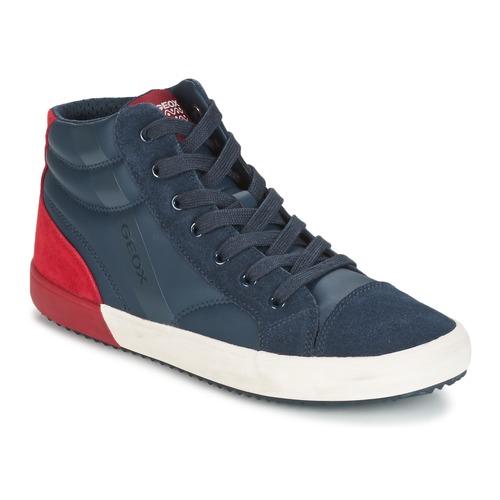 Shoes Boy Hi top trainers Geox J ALONISSO B. A MARINE / Red