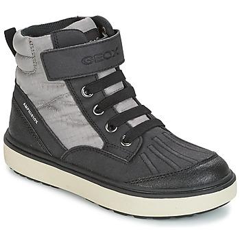 Shoes Boy Hi top trainers Geox J MATT.B ABX B Grey / Black
