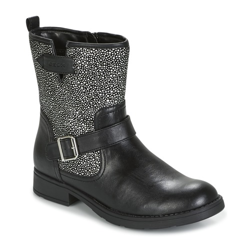 Shoes Girl Mid boots Geox J SOFIA K Black / Silver