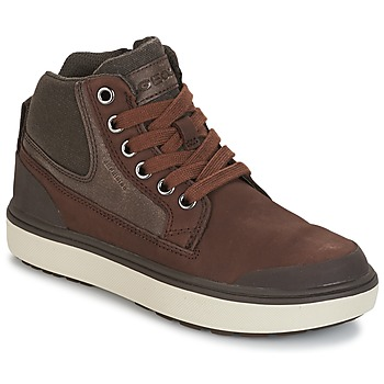 Shoes Boy Hi top trainers Geox J MATT.B ABX C Brown