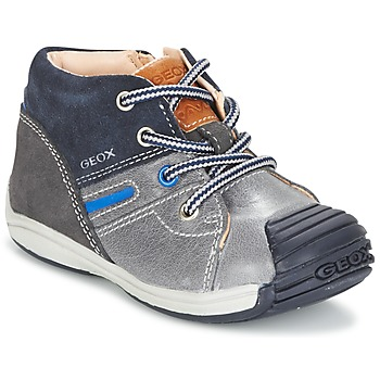 Shoes Boy Hi top trainers Geox B TOLEDO B. A Grey / MARINE