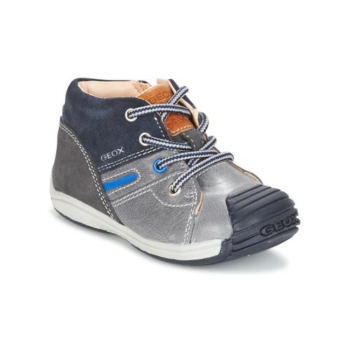 Shoes Boy Hi top trainers Geox B TOLEDO B. A Grey / Marine
