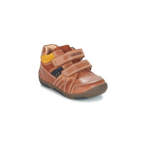 Shoes Boy Low top trainers Geox B N.BALU' B. B Brown