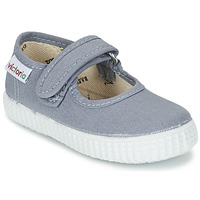 Shoes Girl Flat shoes Victoria MERCEDES VELCRO LONA Grey