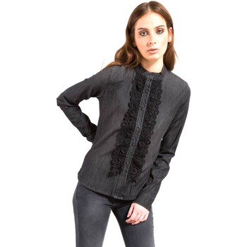 Clothing Women Tops / Blouses Fornarina BIR4560D862VN Shirt Women Nero