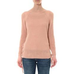 Clothing Women Jumpers De Fil En Aiguille Pull Lacets Rose Pink