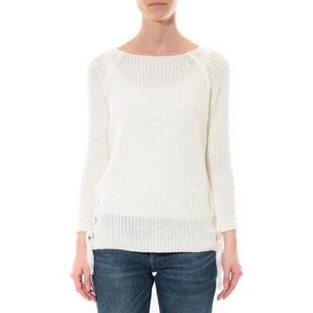 Clothing Women Jumpers De Fil En Aiguille Pull Lacets Blanc White