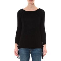 Clothing Women Jumpers De Fil En Aiguille Pull Lacets Noir Black