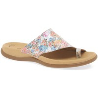 Shoes Women Flip flops Gabor Lanzarote Womens Printed Mules Multicolour
