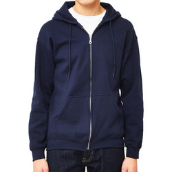Clothing Men jumpers The Idle Man Classic Zip Through Hoodie Navy