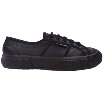 Shoes Men Low top trainers Superga 2750 FGLU Leather black