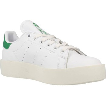 Shoes Women Low top trainers adidas Originals STAN SMITH BOLD White