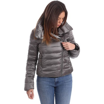 Clothing Women coats Byblos Blu 669100 Down jacket Women Grey Grey