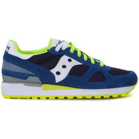 Shoes Men Trainers Saucony Sneaker  Shadow in suede blu royal Blue