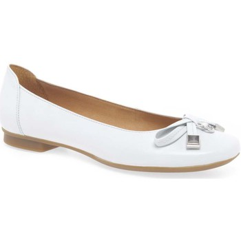 Shoes Women Flat shoes Gabor Natalia Womens Leather Ballet Pumps white