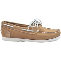Shoes Women Loafers Timberland Classic Boat Beige-Brown