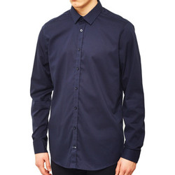 Clothing Men long-sleeved shirts Vito Solo Shirt Navy Blue