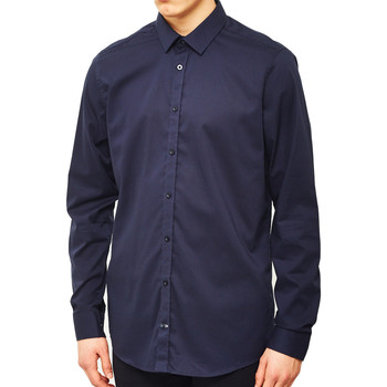 Clothing Men long-sleeved shirts Vito Solo Shirt Navy