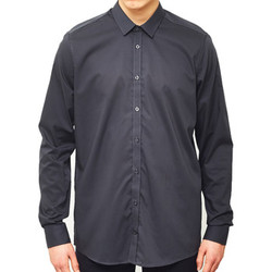 Clothing Men long-sleeved shirts Vito Solo Shirt Grey