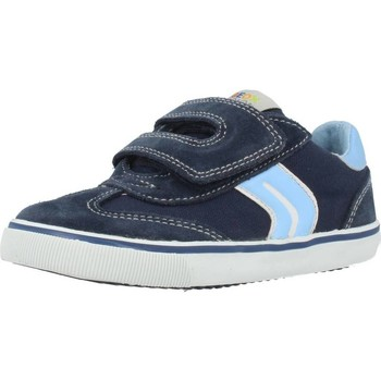 Shoes Boy Low top trainers Geox B KIWI BOY Blue