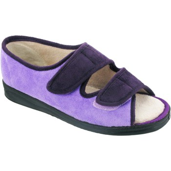 Shoes Women Slippers Mirak Louise Touch Fastening Purple