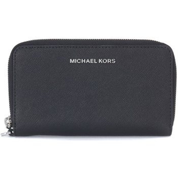Bags Women Wallets MICHAEL Michael Kors Michael Kors Jet Set Travel pochette in black saffiano leather Black