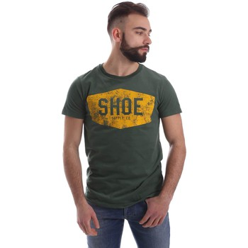 Clothing Men short-sleeved t-shirts Shoeshine A6TU0105 T-shirt Man Verde Verde