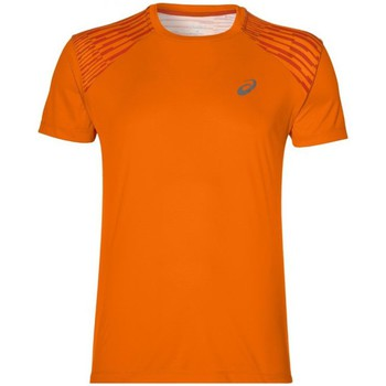 Clothing Men short-sleeved t-shirts Asics Fuzex Tee Orange