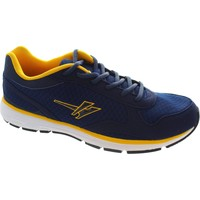 Shoes Men Low top trainers Gola active ama199 men's Navy/Sun/White lace up flexible running tra Navy/Sun/White