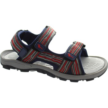 Shoes Men Sandals Gola AMP124 men's grey and red dual twin strap open toe backstrap sa Grey/Red/Navy