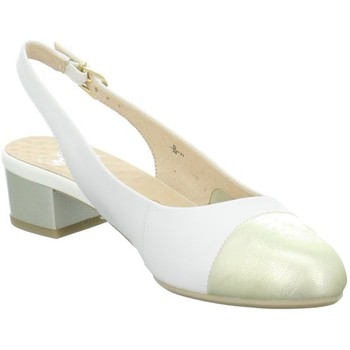 Shoes Women Heels Caprice Sling White