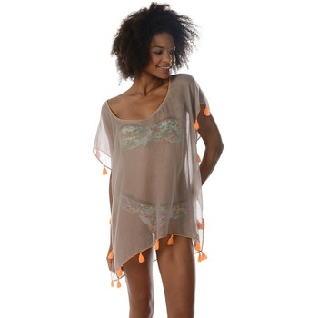 Clothing Women Tunics Banana Moon Tunic  Farfala Cumbia Beige