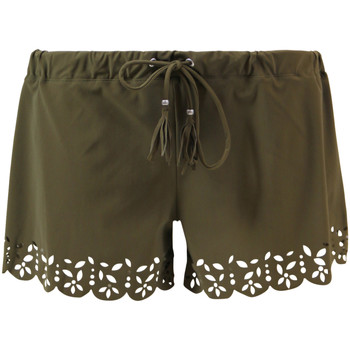 Banana Moon  Khaki Board Short Huawei Meow  womens Shorts in green