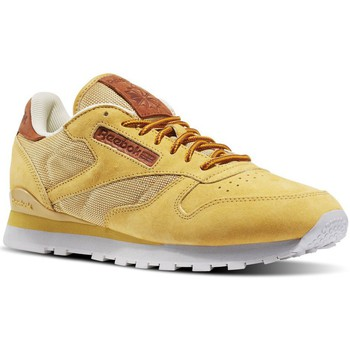Shoes Men Low top trainers Reebok Sport CL Leather OL Brown-Honey-White