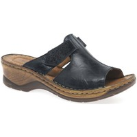 Shoes Women Mules Josef Seibel Catalonia 32 Womens Rip Tape Fastening Sandals blue