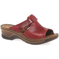 Shoes Women Mules Josef Seibel Catalonia 32 Womens Velcro Fastening Sandals red