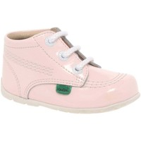 Shoes Girl Mid boots Kickers Baby Chi Girls First Boots pink