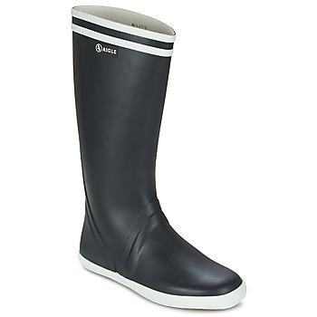 Shoes Men Wellington boots Aigle GOELAND Marine / White