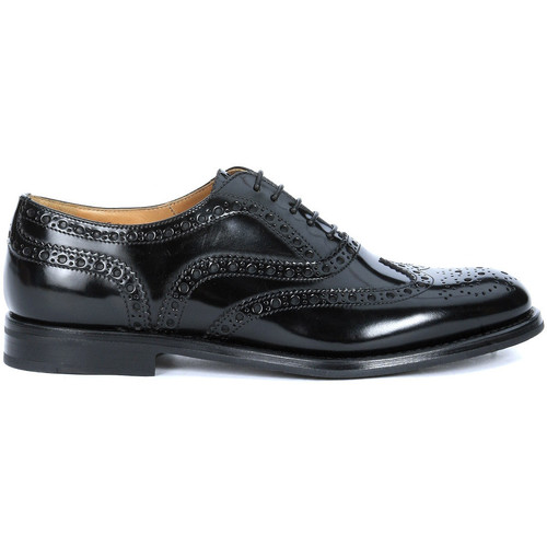 Shoes Women Derby Shoes & Brogues Church's Burwood lace up black patent leather Black