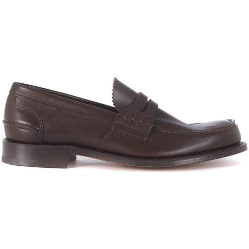 Shoes Men Loafers Church's DARK BROWN  PEMBREY LOAFER Brown