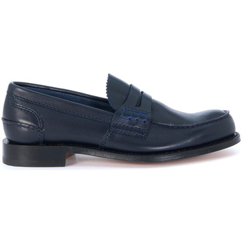 Shoes Men Loafers Church's Pembrey blue loafer Blue