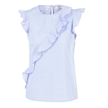 Clothing Women Tops / Blouses Morgan MARFIZ Blue / White