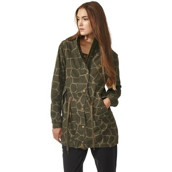 Clothing Women Jackets adidas Originals Giraffe Parka Green
