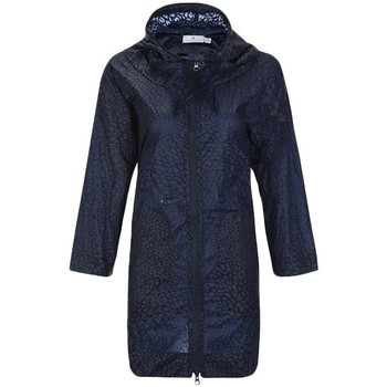 Clothing Women coats adidas Originals Studio Parka Print Navy blue