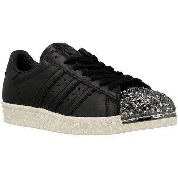 Shoes Women Low top trainers adidas Originals Superstar 80S 3D MT W Black-Silver